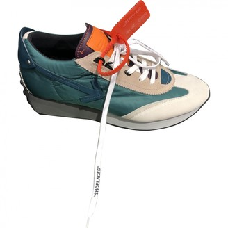 Off-White Arrow Turquoise Leather Trainers