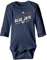 VOVNDOT Infant Toronto Blue Jays Jays TOR Baseball Long Sleeve Romper Bodysuit