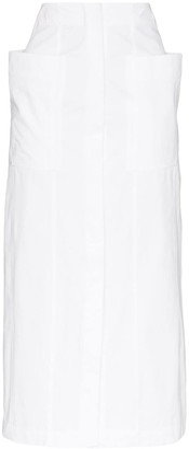 Jacquemus Bastide cotton-poplin midi skirt