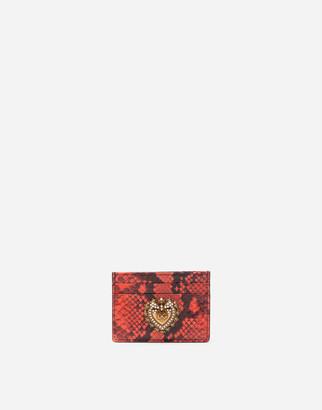 Dolce & Gabbana Devotion Credit Card Holder In Python
