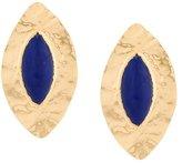 Balmain oversized teardrop earrings
