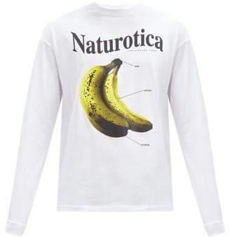 Christopher Kane Naturotica Banana-print Cotton T-shirt - White
