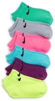 Nike Girl's 6-Pack No-Show Socks