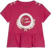 Juicy Couture Collegiate laurel cotton peplum T-shirt 3-24 months