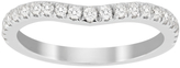 Jenny Packham Brilliant Cut 0.35 Carat Total Weight Contour Wedding Ring in 18 Carat White Gold
