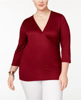 Almost Famous Plus Size Wrap Top