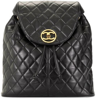 Chanel Pre Owned 1992 quilted CC backpack