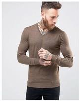 Selected V Neck Merino Sweater