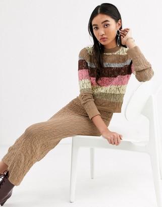 ASOS textured stripe knit