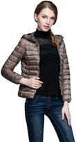 CFR Lady Women Fashion Down Jacket Ultra Light Weight Duck Down Sport Coat 4 Colors(,2XL)