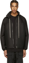 Rick Owens Black Hooded Coat