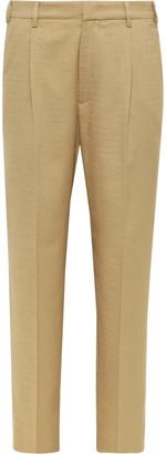Barena Tan Talon Tapered Woven Suit Trousers