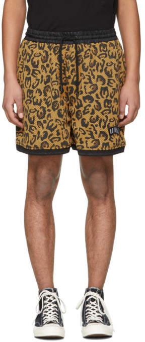 Wonders Beige Leopard Mesh Shorts