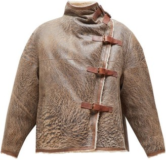 Isabel Marant Abalina Shearling Jacket - Womens - Brown