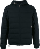Paul Smith hooded padded jacket - men - Feather Down/Nylon/Wool - L