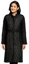 Isaac Mizrahi Live! Mandarin Collar Lace Jacquard Melton Coat