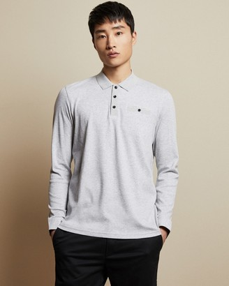 Ted Baker SKELTER Cotton long sleeved polo top