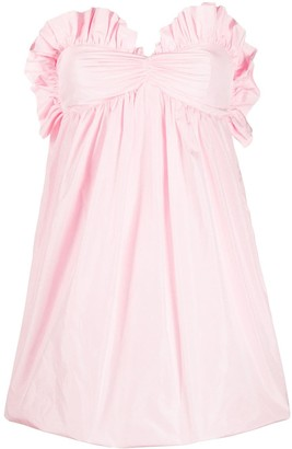 Philosophy di Lorenzo Serafini Ruffle-Trim Babydoll Puffball Dress