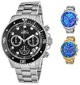 Invicta Men's Pro Diver Chronograph Stainless Steel with Colored Dial and