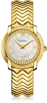 Versace DV25 Round Gold Women's Watch w/Mother of Pearl Dial