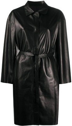 Salvatore Santoro Belted Press-Stud Midi Coat