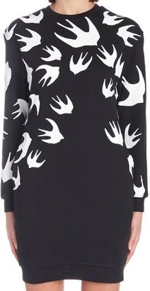 Alexander McQueen Swallow Print Sweater Dress