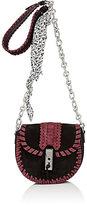 Altuzarra Women's Ghianda Mini Chain Saddle Bag-BURGUNDY