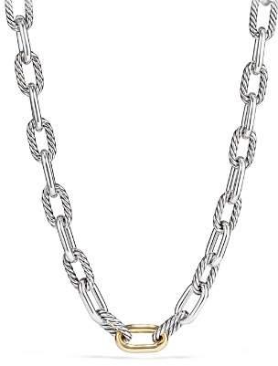 David Yurman Madison Large Chain Necklace with 18K Gold