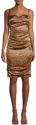 Koral Alessia Zebra Draped Dress