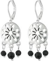 The Sak 3 Bead Disc Drop Earrings