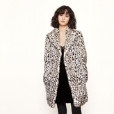 Maje Leopard-print fur coat