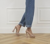Thumbnail for your product : Office Hague Glitter Platform Heels Gold Glitter