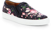 Givenchy Rose Camouflage-Print Leather Laceless Sneakers