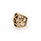 Low Luv x Erin Wasson Silver Domed Cage Ring