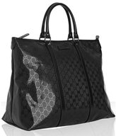 Gucci black GG imprime large travel tote