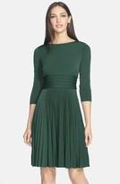 Eliza J Women's Pleated Jersey Fit & Flare Dress