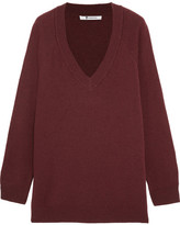 Alexander Wang Wool And Cashmere-blend Sweater - Claret