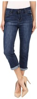 Liverpool Michelle Capris in Montauk Mid Blue Women's Jeans