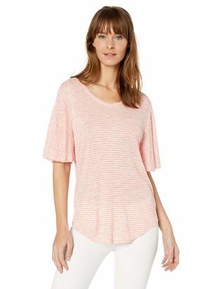Nine West Women's Amelie V Neck Short Sleeve Tee Shirt