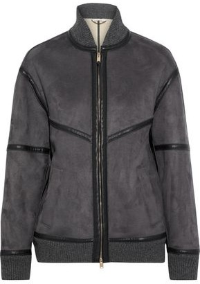 Stella McCartney Nola Faux Leather And Suede Bomber Jacket