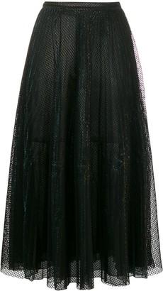 Marco De Vincenzo Tulle Midi Skirt