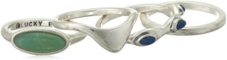 Lucky Brand Jewelry Aqua Set Stone Stack Rings