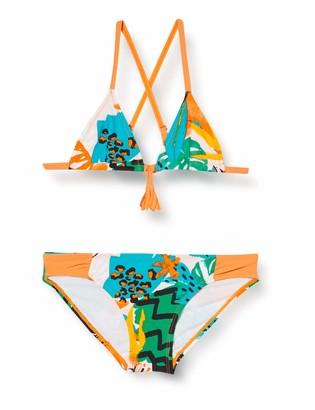 Tuc Tuc Orange Printed Bikini for Girl Party Animal