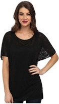 Miraclebody Jeans Paige Pleat Back Top w/ Body-Shaping Inner Shell