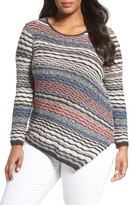 Nic+Zoe Plus Size Women's Crosswise Sweater