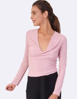 Forcast Indie Textured Draped Top