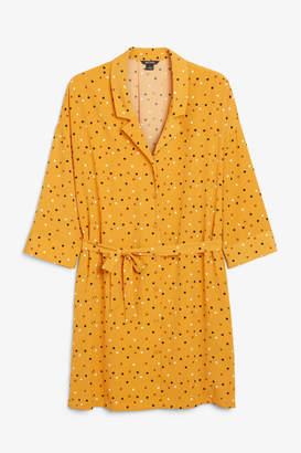 Monki Oversize belted shirt dress