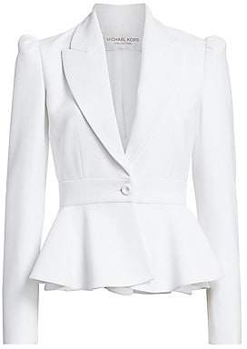 Michael Kors Women's Puff-Shoulder Peplum Jacket