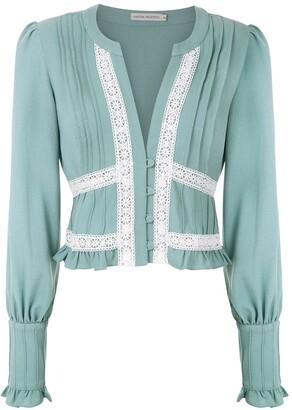 Martha Medeiros Nervura long sleeved blouse