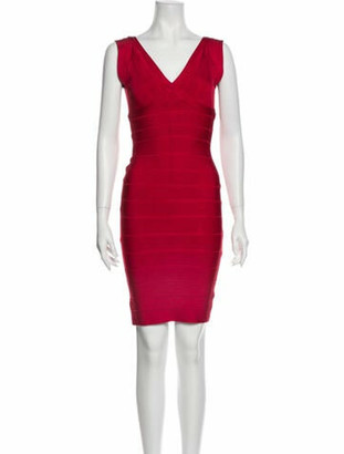 Herve Leger Karima Mini Dress Red